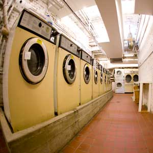 laundry room at the Ballroom Building in Williamsburg Brooklyn