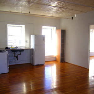 loft kitchen in park slope brooklyn in 2A on 5th ave. brooklyn 11215  for rent