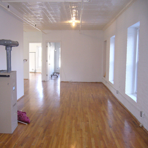 large open loft with wood floors in park slope brooklyn 2A 11215 for rent