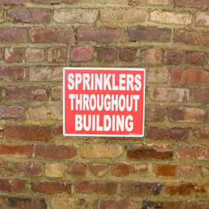 fully sprinklered building