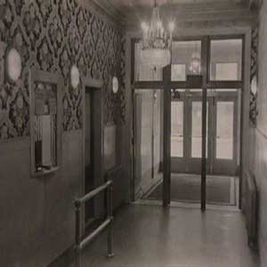 photo of entrance of the ballroom building grand paradise ballroom/ miller grand ballroom in the 1920's